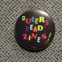 Queers Read Zines button